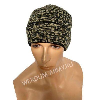 шапка одинарной вязки на флисе цифра купить