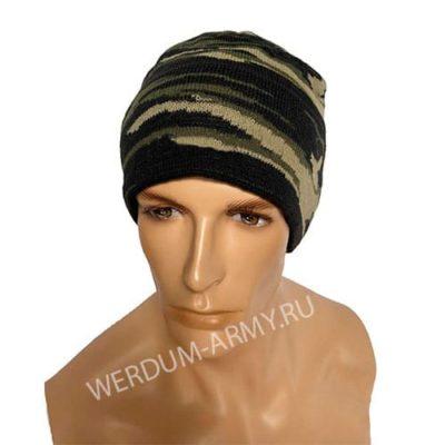 шапка одинарной вязки на флисе вудланд купить