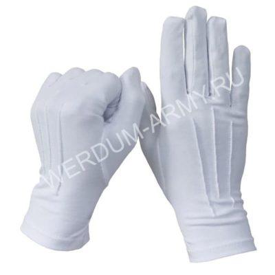 Перчатки белые парадные военные с лучами 102м купить