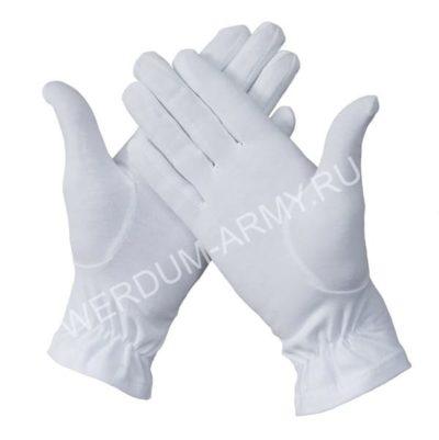 Перчатки парадные белые 102м хб купить