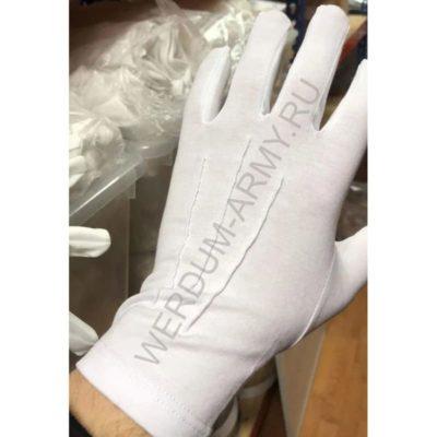 Перчатки парадные хлопковые белые 101м купить