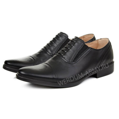 Уставные туфли с имитацией шнурков купить