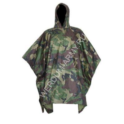 Армейская плащ-накидка Пончо вудланд купить